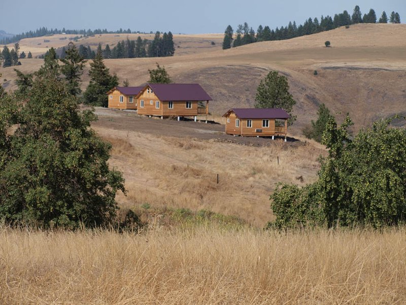 Overlooking the cabins and view. We have 2 singles and one party cabin that sleeps up to 6