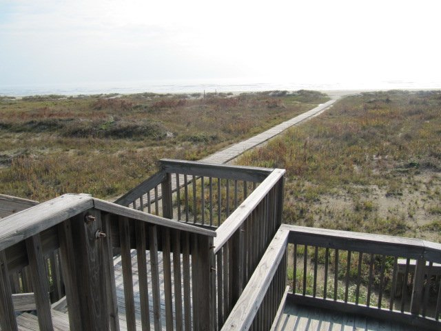 Boardwalk to the sand!