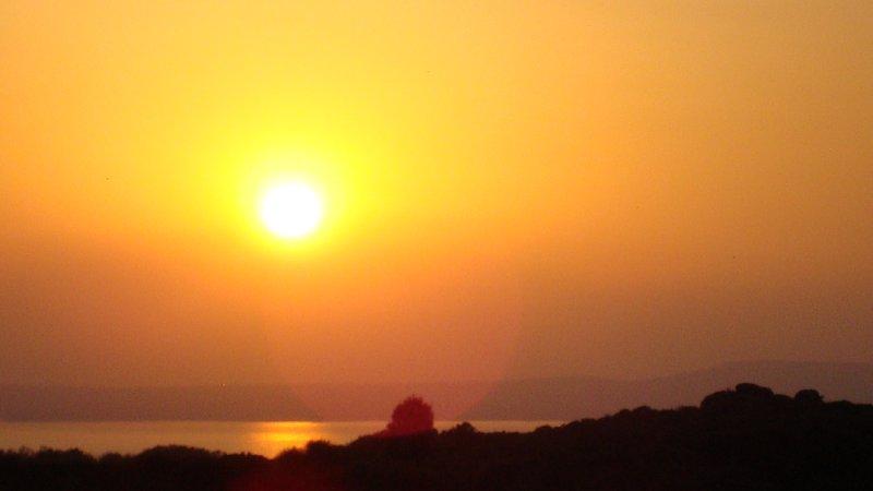 gazebo sunset view