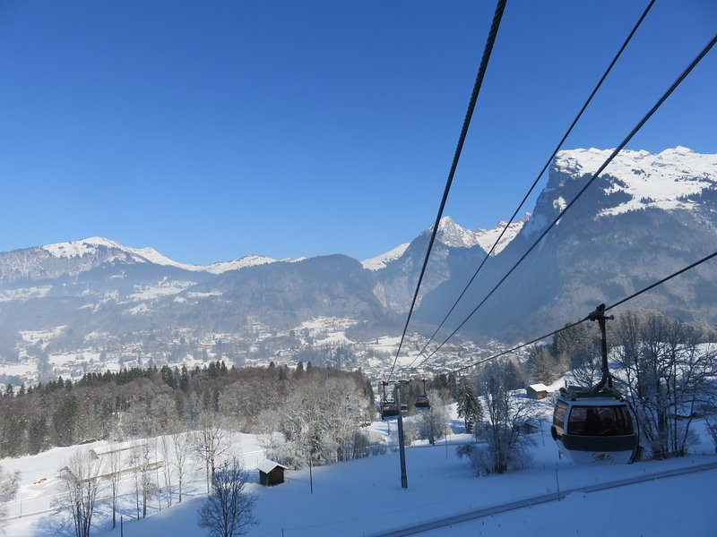 Grand Massif Express lift is 5 mins by free ski bus from the apartment