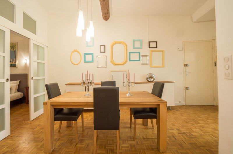 Dining area with seating for four