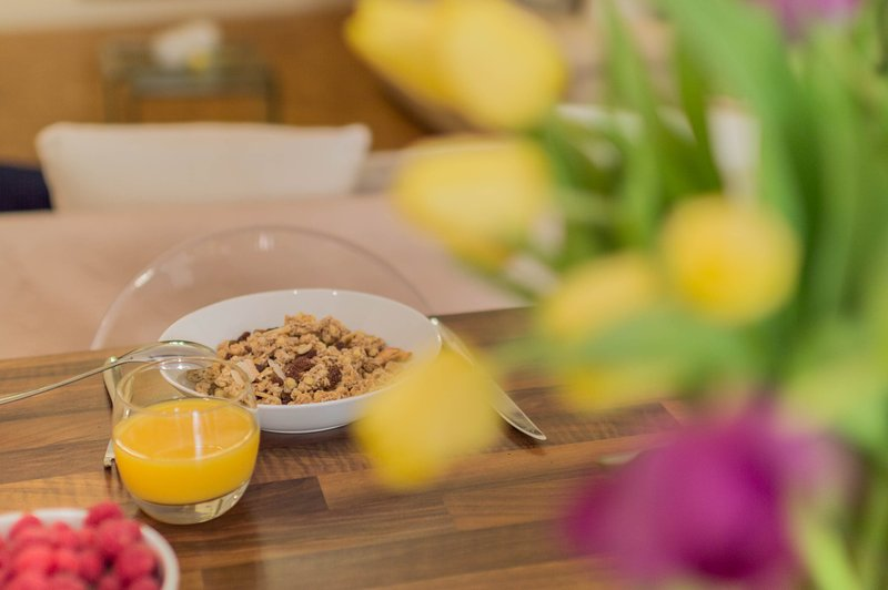 Enjoy a healthy breakfast in  a gorgeous apartment in the Old Town