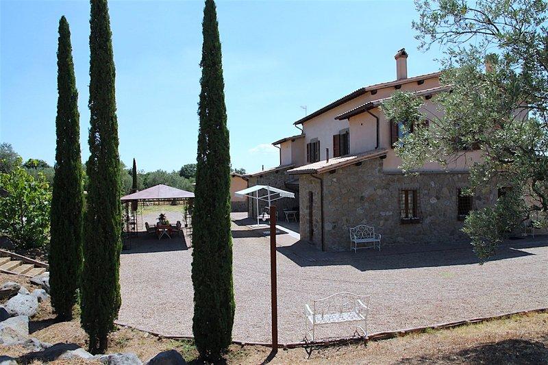 CORTE DEGLI ULIVI: FANTASTIC FARM HOUSE, vacation rental in Montefiascone