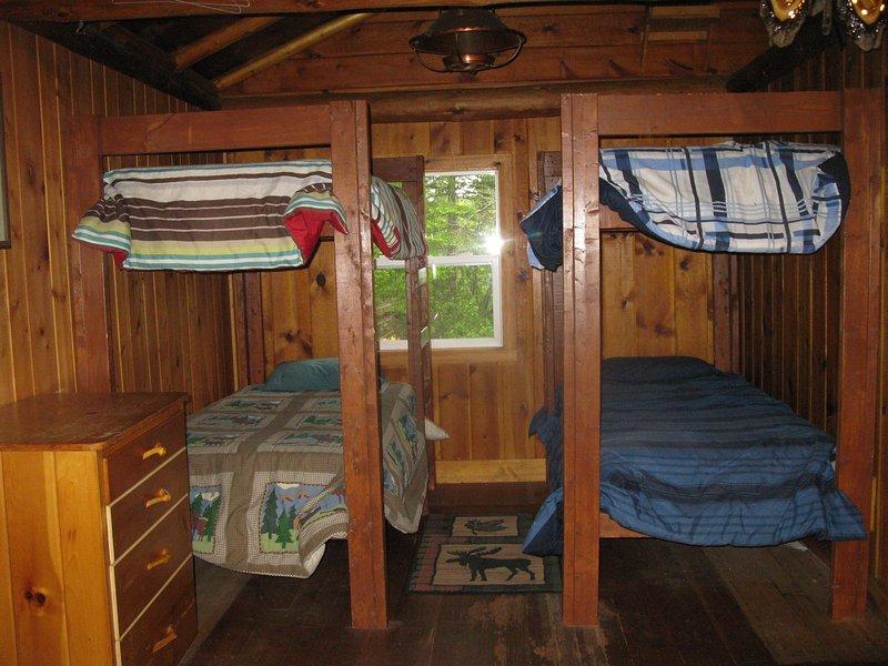 Bunk beds sleep four.
