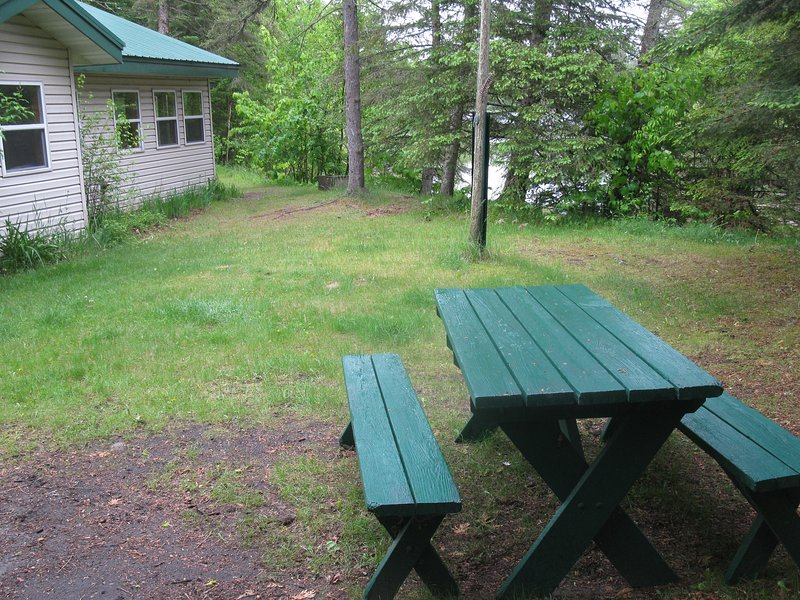 Outside picnic and fire pit available, with local fire wood.  A great place to spend evenings.