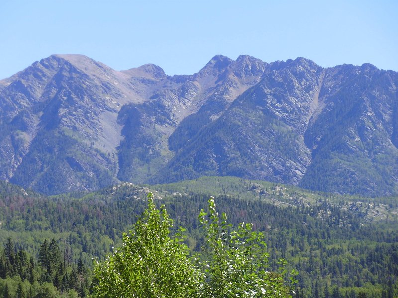 View of Needles Peaks from Upstairs Balcony