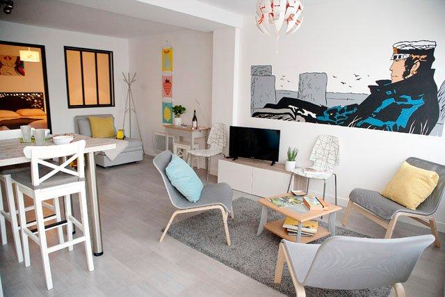 Le Gîte des Bulles, centre de Vannes, stationnement privatif, port à pied, casa vacanza a Vannes