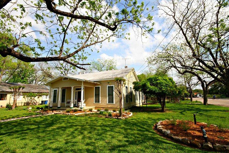 Yard,Building,Cottage,Tree,Field
