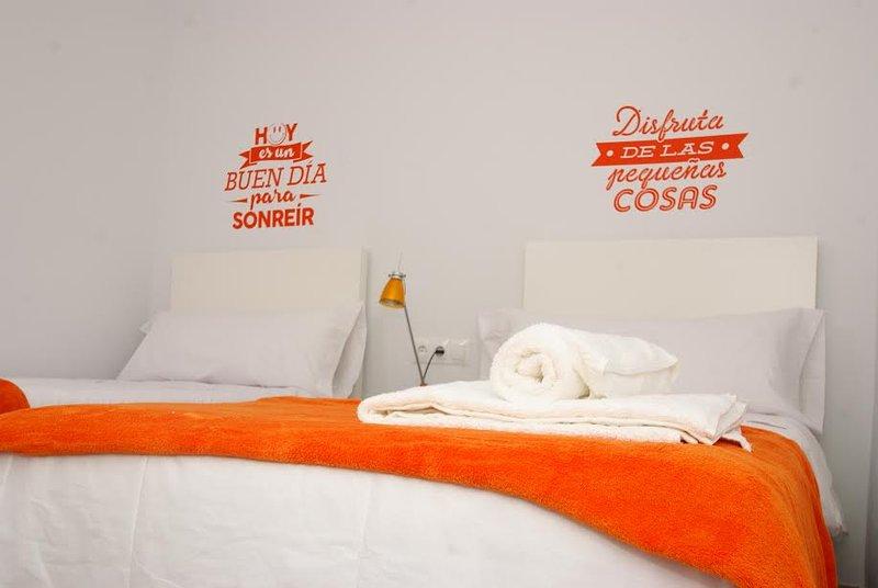 El dormitorio naranja
