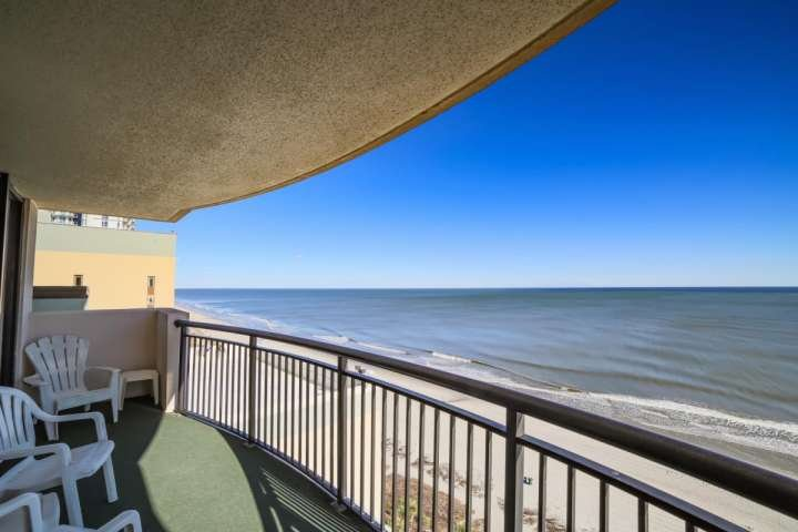 Spectacular view of the beach and ocean from this 14th floor balcony.  This isn't a model unit, this is the view you and your family will enjoy.