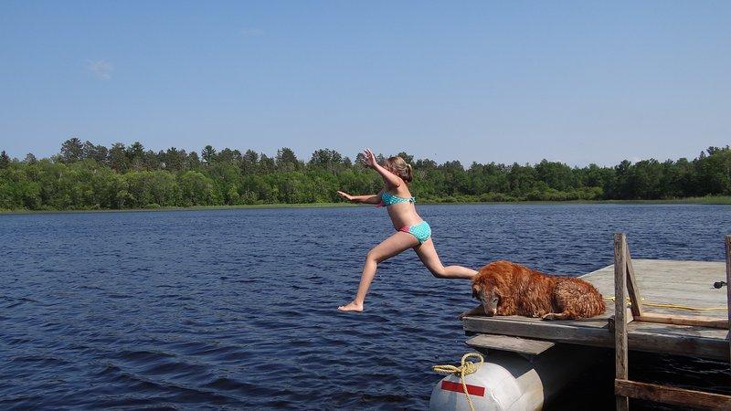 Enjoy our swimming raft.
