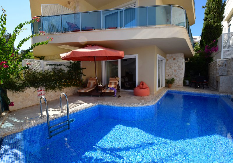Private pool and terrace at Apartment Leylek