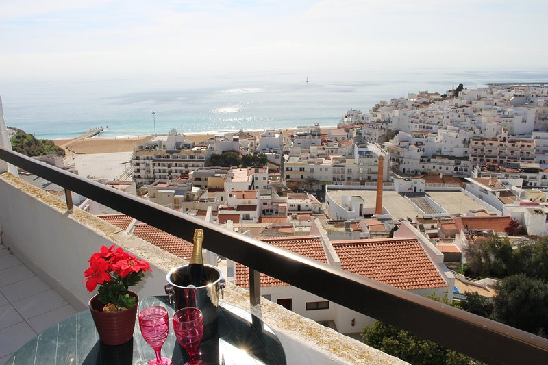 Dine on the terrace with the most amazing panoramic views to the beach, ocean and the old town