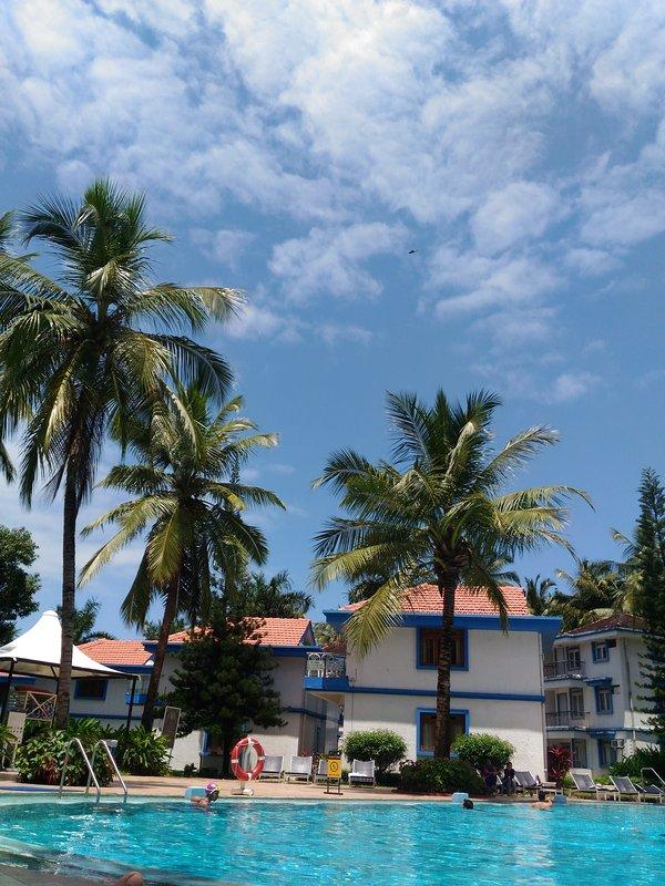 Villas surrounding the pool