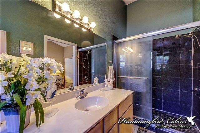 Il bagno principale dispone di una cabina doccia