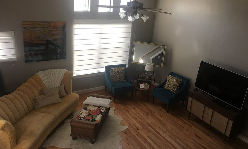 Modern 2 Bedroom Condo 2 miles from NRG Stadium with full bar included, holiday rental in Brookside Village