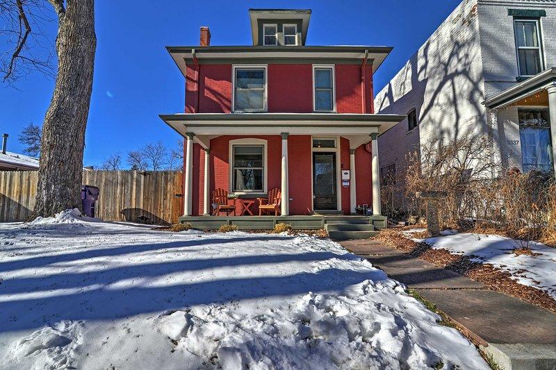 Escape to this 2-bedroom, 2.5-bathroom vacation rental for a Denver getaway!