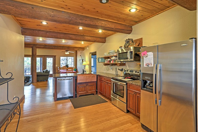 The home features 2 fully equipped kitchens.