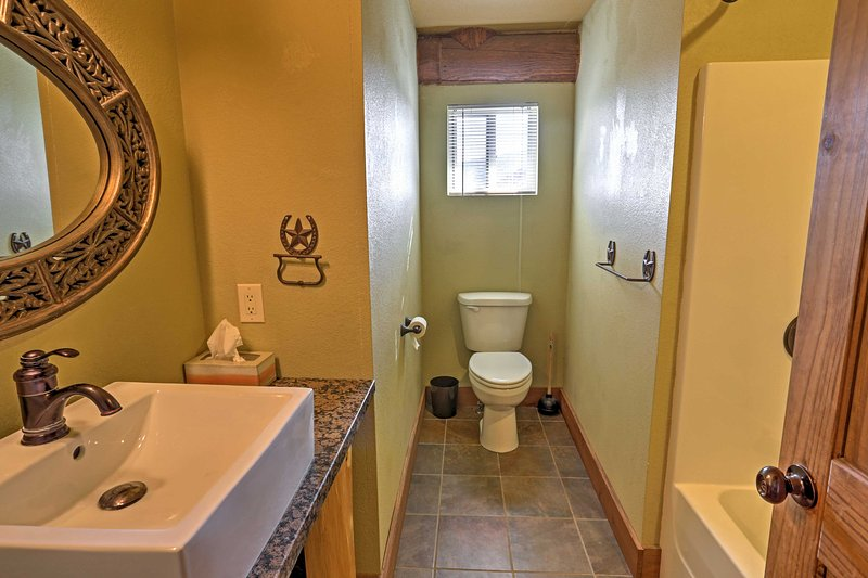 Every bathroom provides pristine space to freshen up for each day.