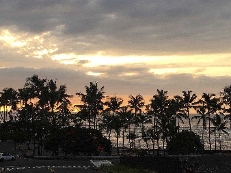Vue de la véranda. magnifiques couchers de soleil!