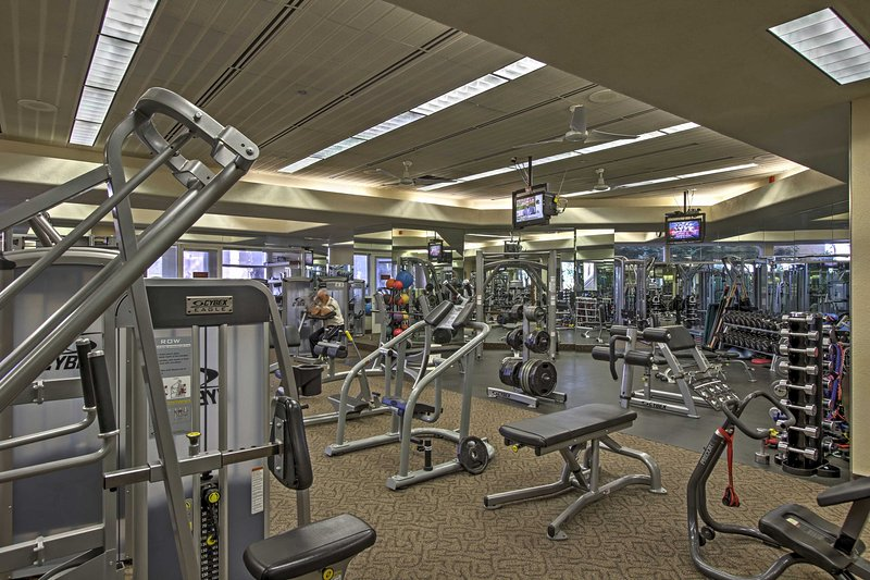 Sweat it out at the onsite athletic club.