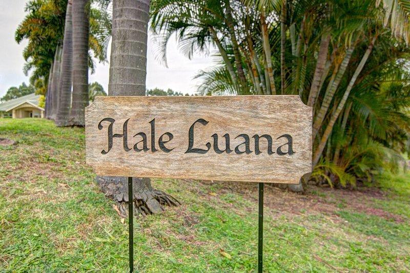Hale Luana près de Honoka'a sur la Grande Ile ... venez visiter aujourd'hui et revenez chaque année!