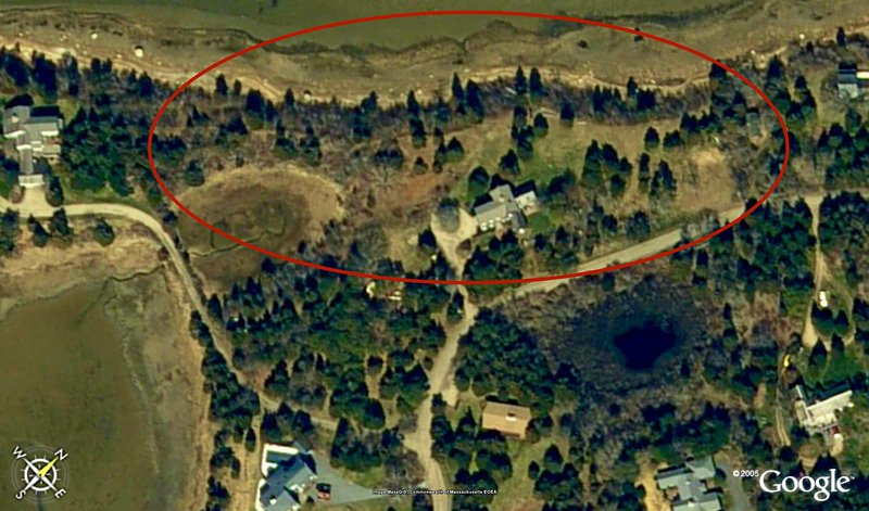 Aerial view of the expansive 4 acre estate