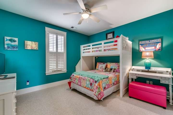 FULL SIZE BED WITH BUNK OVER IT