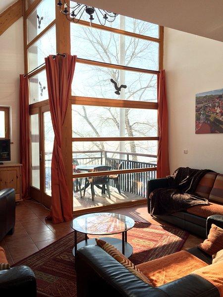 twee verdiepingen ramen om te genieten van het uitzicht