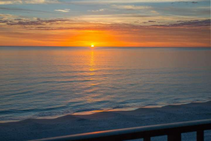 Sunset View from Private Balcony