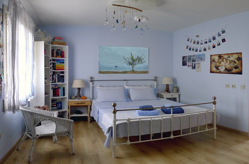 Double bed on first floor