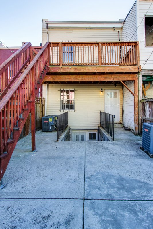 Upper Unit # A has a balcony that leads to the Patio.