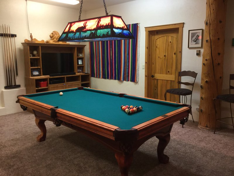 Lower level walk out basement Rec. Room with pool table, fooz ball table