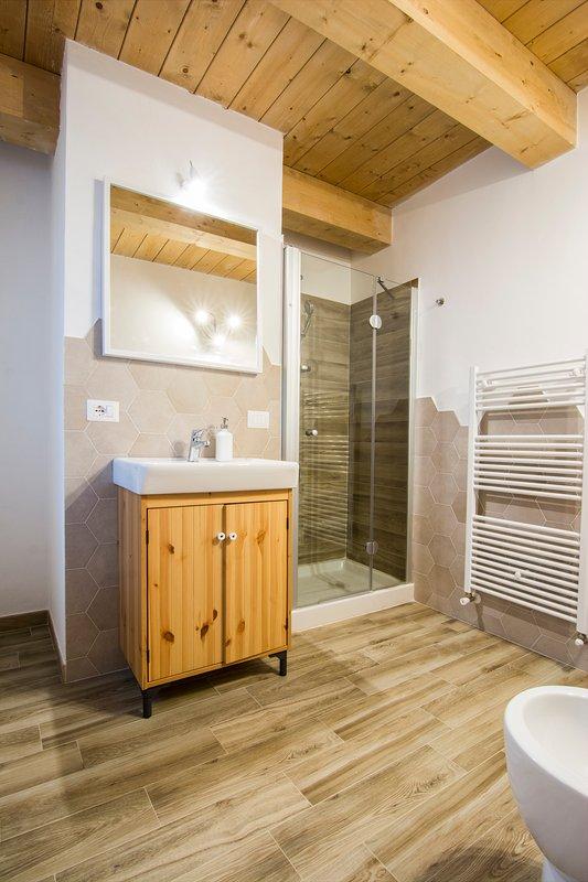 uno de los baños privados