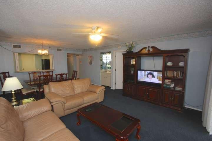 Godere di un film sul TV a schermo piatto e rilassarsi in questo spazioso soggiorno con divano in pelle di
