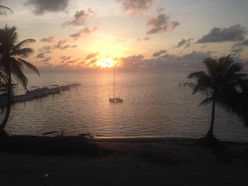 Hermosa vista al amanecer
