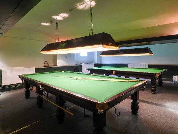 Snooker room at the bar coffee shop