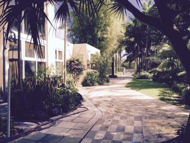 all stone driveway