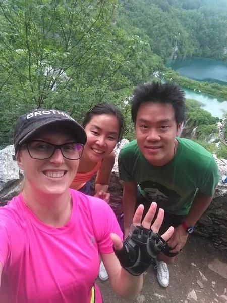 Nos visiteurs en provenance de Thaïlande. Il était beau jour et temps agréable ensemble :)