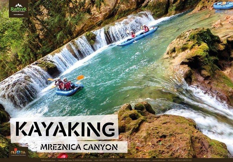 Autre possibilité pour l'activité - kayak sur Mrežnica. Nous organisons pour vous ...