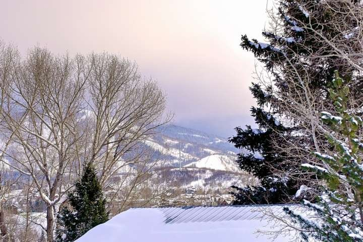 A View of the Slopes of Mt Werner from the Property