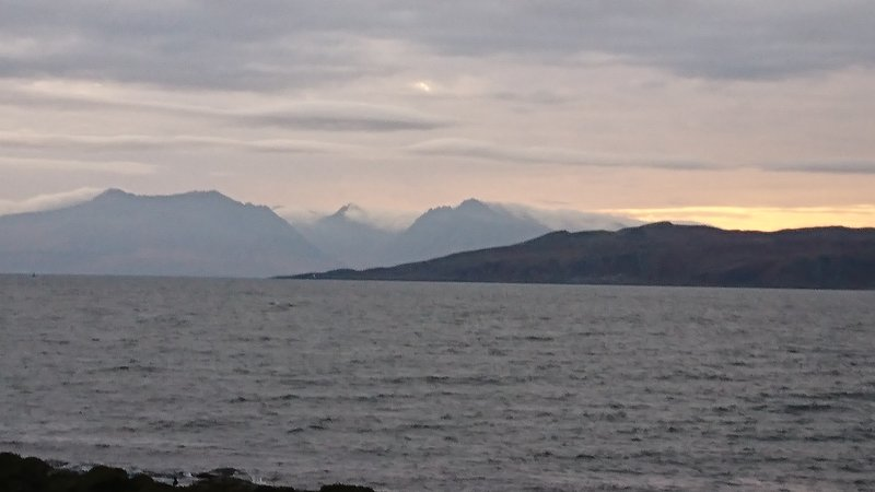 Arran from Millport at sunset