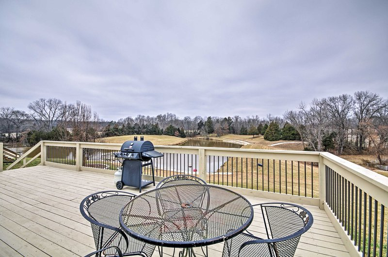 Take in stunning scenery from the deck.