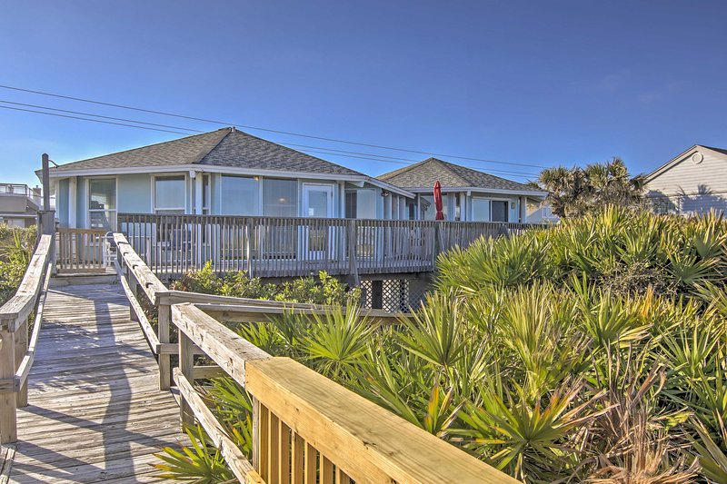Steps away from the sparkling ocean and sandy beach, you'll love relaxing here.