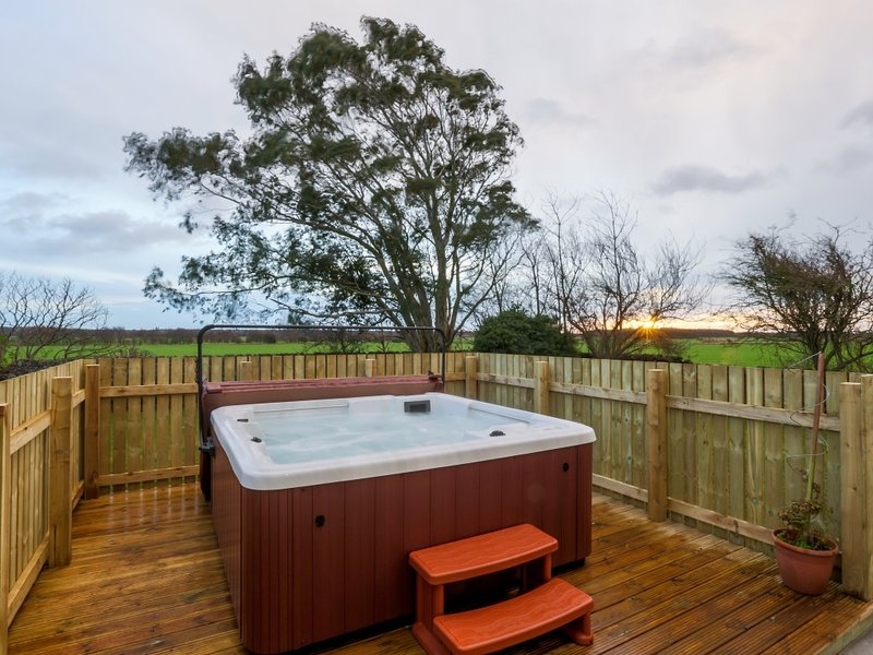 Private Hot Tub overlooking the Fife countryside