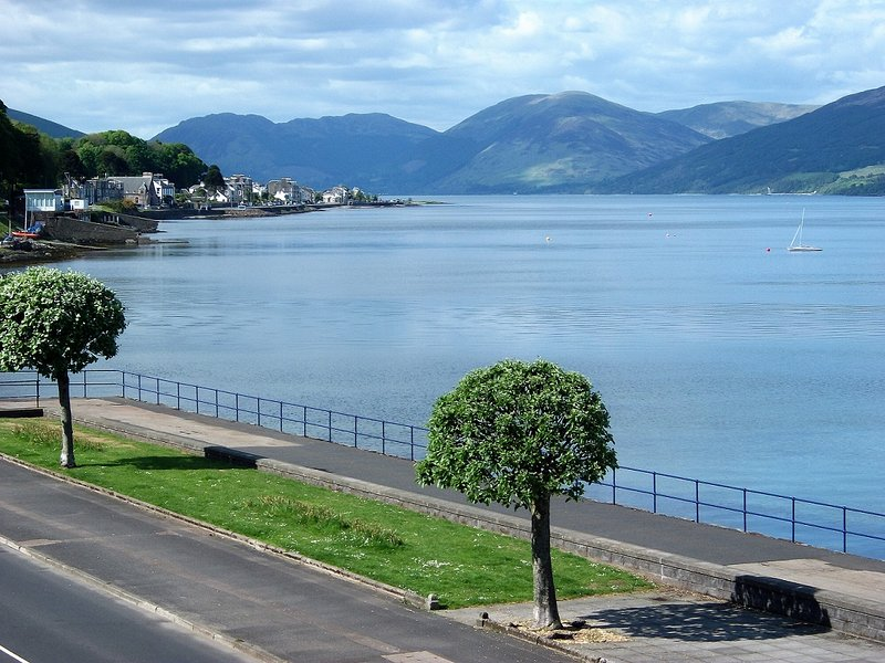 Breath-taking view towards Loch Striven from living room