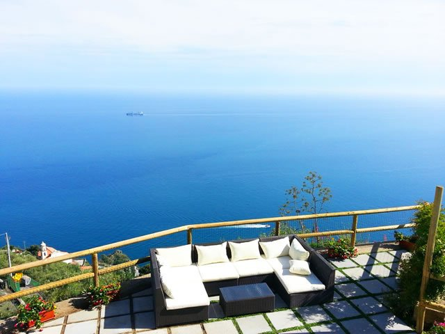 Villa Turquoise overlooking the sea, Amalfi Coast, holiday rental in Conca dei Marini