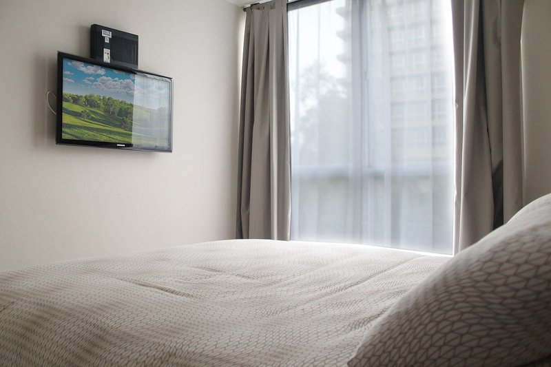 BEDROOM 2 WITH FLAT SCREEN
