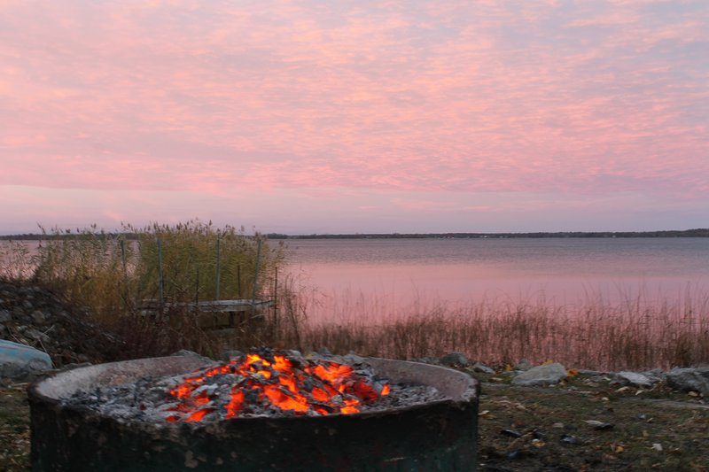 Fire pit by the water edge