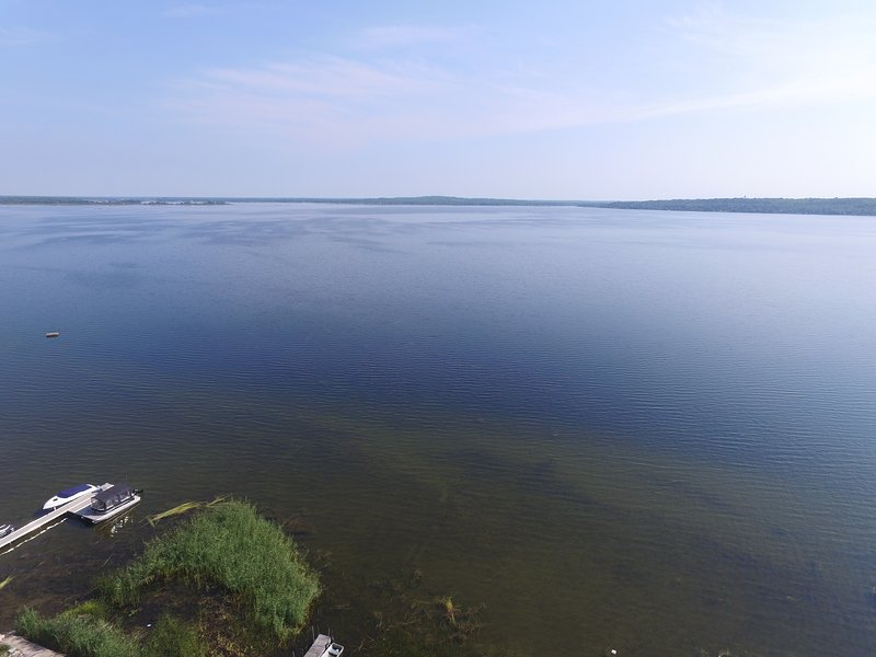 Aerial view of the bay